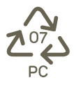 materiale: PC (Policarbonato)