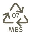 material: MBS (Metacrilato de Metilo-Butadieno-Estireno)