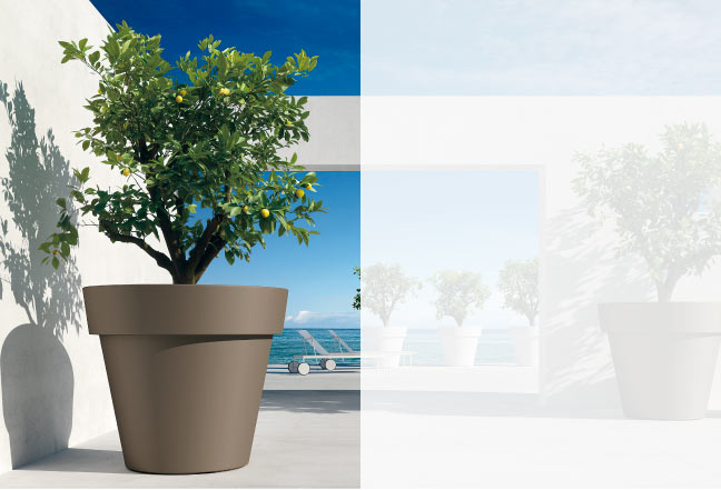 Euro 3 plast plastic pots designer planters exterior - Vasi da esterno design ...