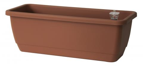 kalis plant box with water reserve terracotta