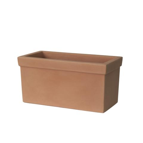 balaustra liscia plant box terra di siena
