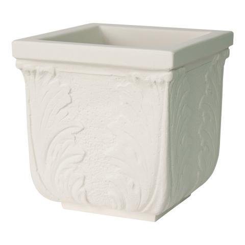 foglie vaso bianco