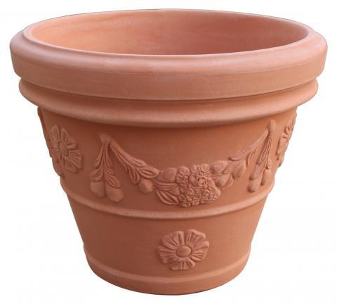 festonato vaso terra di siena