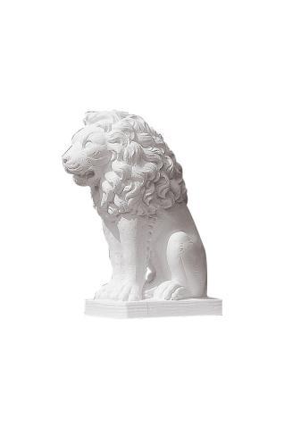 leone statua bianco