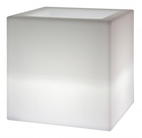 kube mini lampada vaso neutro