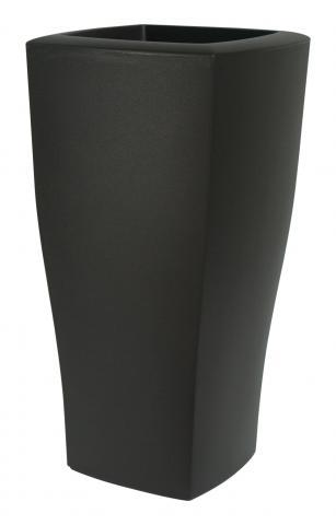 quadrum vaso nero perla