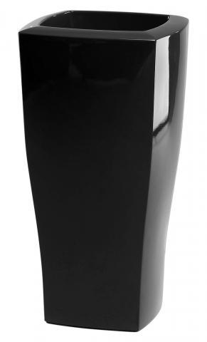 quadrum vaso laccato nero