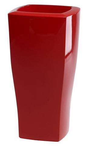 quadrum vaso laccato rosso oriente