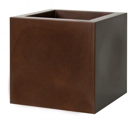 kube vaso gloss c/ruote ruggine