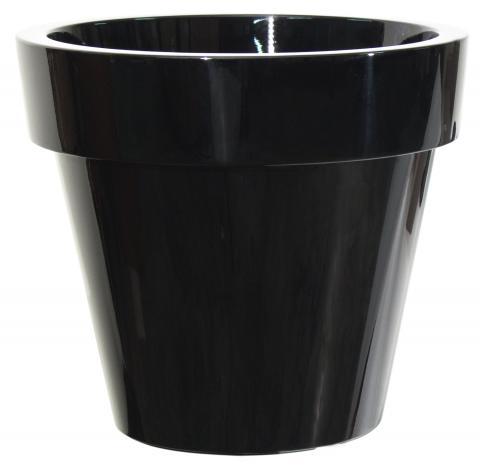 ikon vaso laccato nero