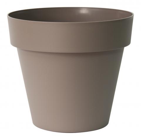 mitu pot with holes taupe