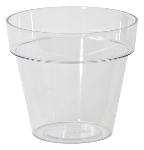 Cache pot transparent for Plante plastique gifi