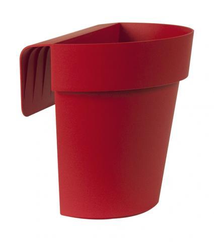 up vaso con riserva rosso smalto
