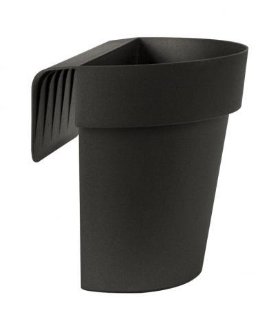 up vaso con riserva antracite