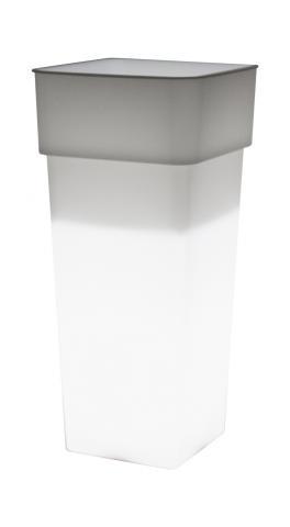 duo lámpara maceta transparente