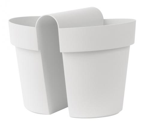 be-up pot with water reserve white