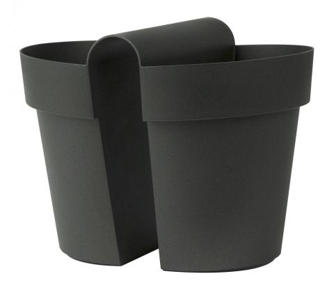 be-up pot with water reserve anthracite