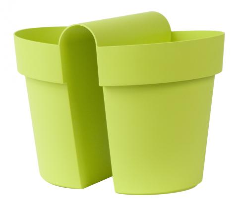 be-up vaso con riserva verde acido