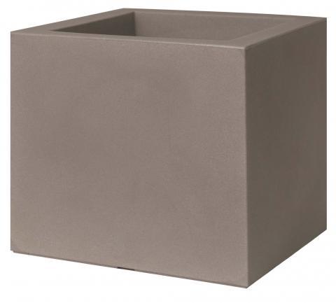 kube vaso con ruote cemento